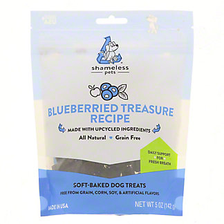 Shameless Pets  Blueberried Treasure Dog Treat, 5 oz