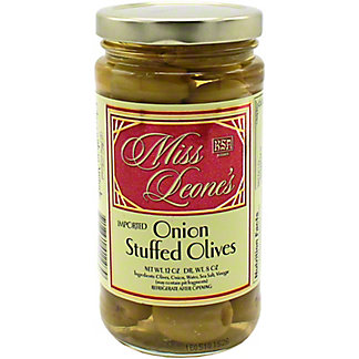 Miss Leone's Onion Stuffed Queen Olives, 12 oz