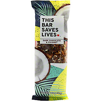 This Bar Saves Lives Dark Chocolate and Coconut, 1.4 OZ