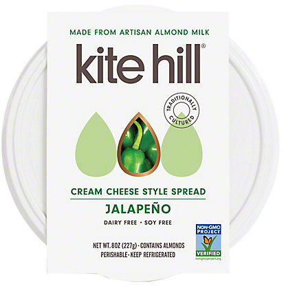 Kite Hill Cream Cheese Jalapeno, 8 OZ
