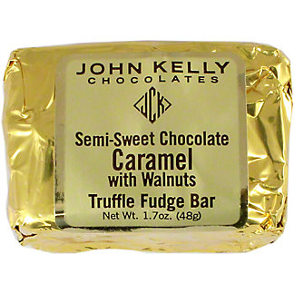 John Kelly Semi Sweet Chocolate Caramel With Walnuts, 1.7 OZ