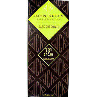 John Kelly Dark Chocolate Solid Bar, 2.3 0Z