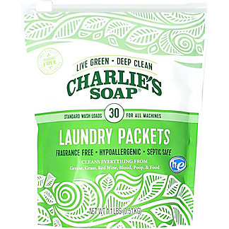Charlies Soap Laundry Powder Packets, 30 ea