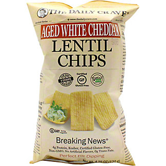 The Daily Crave Chips Lentil Aged White Cheddar, 4.25 oz