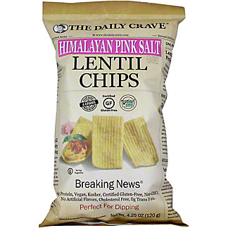 The Daily Crave Chips Lentil Himalayan Pink Salt, 4.25 OZ