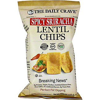 The Daily Crave Lentil Chips Spicy Sriracha, 4.25 OZ