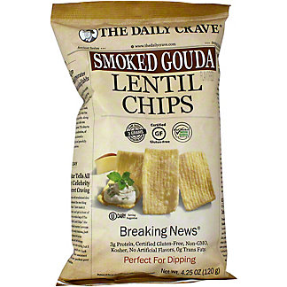 The Daily Crave Lentil Chips Smoked Gouda, 4.25 OZ