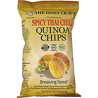 The Daily Crave Quinoa Chips Spicy Thai Chili, 4.25 oz