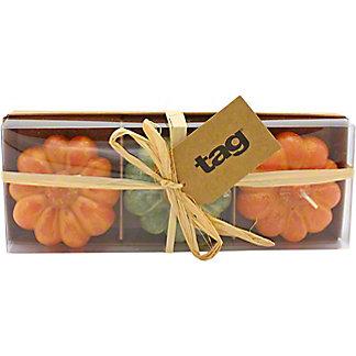 Tag Heirloom Pumpkin Candle Set Of Three, 3 ct