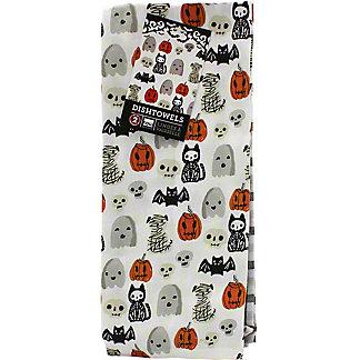 Now Designs Happy Halloween Tea Towel Set Of Two, 2 pk
