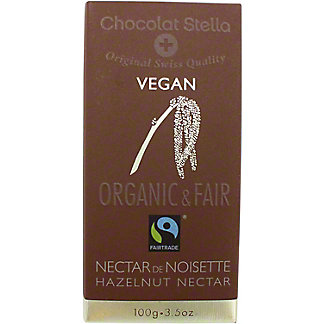 Chocolat Stella Vegan Dark - Hazelnut Nectar, 100 g