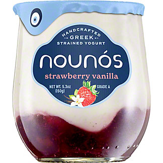 Nounos Strawberry Vanilla Yogurt, 5.3 OZ