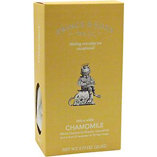 Prince & Sons Tea Co. Chamomile Tea, 15 CT
