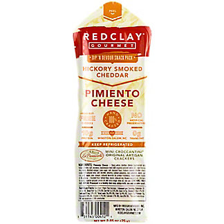 Red Clay Hickory Smoked Cheddar Pimiento Snack Pack, 2.65 OZ