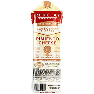 Red Clay Classic Sharp Cheddar Pimiento Snack Pack, 2.65 OZ