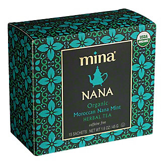 Mina Nana Organic Moroccan Mint Herbal Tea Bags, 15 ct
