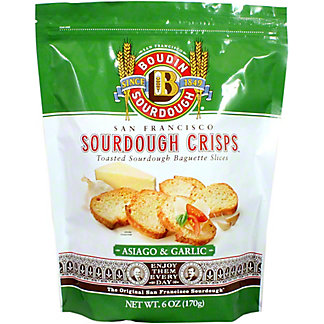 Boudin Sourdough Sourdough Asiago Garlic Crisps, 6 oz