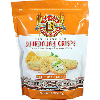 Boudin Sourdough Cheddar Jack Crisps, 6 oz