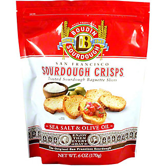 Boudin Sourdough Sea Salt Olive Oil Crisps, 6 oz