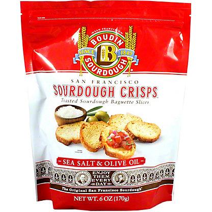 Boudin Sourdough Sea Salt Olive Oil Crisps, 6 oz