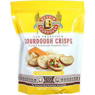 Boudin Sourdough Three Cheese Crisps, 6 oz