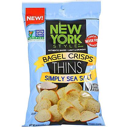 New York Bagel Crisps Simply Sea Salt, 6 OZ