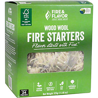 Fire & Flavor Fire Starters Wood Wool, 24 ct