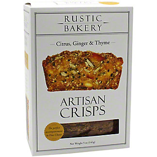 Rustic Bakery Citrus Ginger Thyme Artisan Crisps, 5 OZ