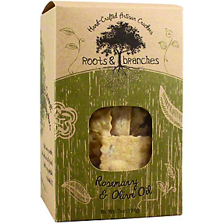 Roots & Branches Rosemary & Olive Oil Crackers, 7 OZ