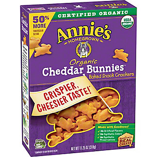 Annie's Homegrown Organic Cheddar Bunnies Baked Snack Crackers, 11.25 oz