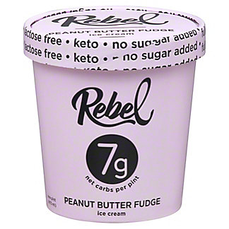 Rebel Ice Cream Peanut Butter Fudge, 16 OZ