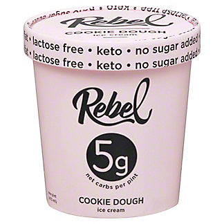 Rebel Ice Cream Cookie Dough, 16 OZ