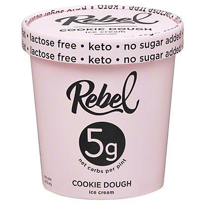 Rebel Ice Cream Cookie Dough, 16 OZ