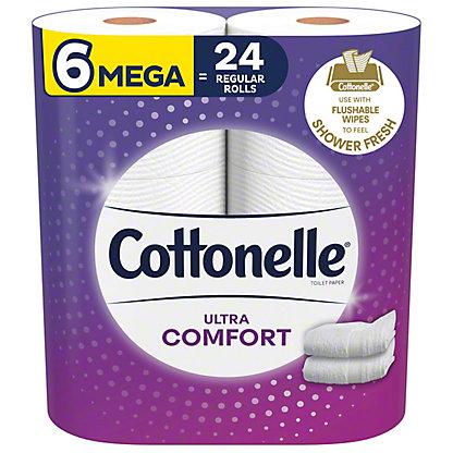 Cottonelle Ultra ComfortCare Toilet Paper, 6 Mega Rolls