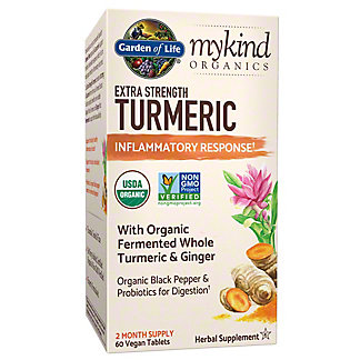 Garden of Life My Kind Organic Extra Strength Turmeric, 60 ct