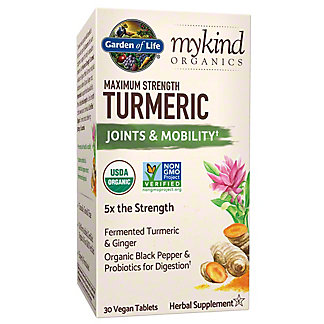 Garden of Life My Kind Organic Maximum Strength Turmeric Tablets, 30 ct