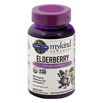 Garden of Life My Kind Organic Elderberry Immune Gummy, 120 ct