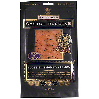 St Jame's Smokehouse Scotch Reserve Salmon with Garlic Pepper, 4 OZ