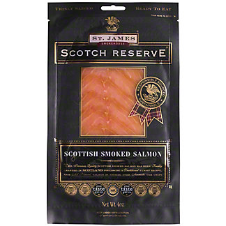 St James Smokehouse Scotch Reserve Smoked Salmon, 4 OZ