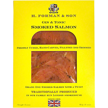 H Forman & Son Smoked Salmon Gin Tonic, 4 OZ