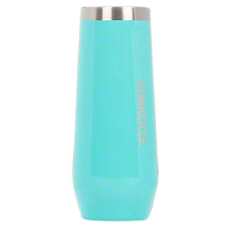 Corkcicle Turquoise Stemless Flute, ea