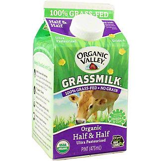 Organic Valley Grassmilk Half & Half, 1 pt