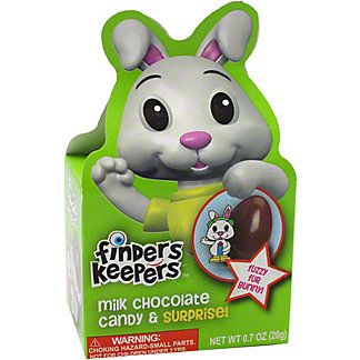 Galerie Finders Keepers Milk Chocolate Candy Easter Bunny, ea