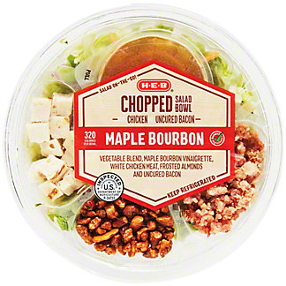 H-E-B Select Ingredients Maple Bourbon Chopped Salad with Chicken and Bacon, 6.10 oz