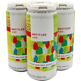Untitled Art White Grapefruit Gose Tart Ale, 4 pk