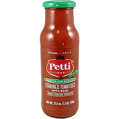 Petti Strained Tomato With Basil, 17.5 OZ
