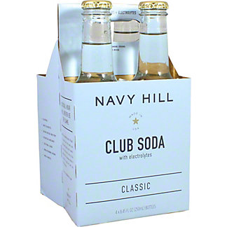 Navy Hill Club Soda, 4 pk