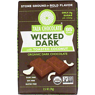 Taza Wicked Dark With Coconut Chocolate Amaze Bar, 2.5 OZ