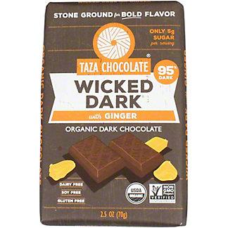 Taza Wicked Dark With Ginger Chocolate Amaze Bar, 2.5 OZ