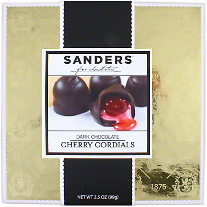 Sanders Milk Chocolate Cherry Cordials Gift Box, 3.5 OZ